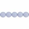 Czech Glass Beads 8In Strand 6mm (30pcs) Violet Monet